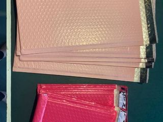 pink bubble mailers 5 small 5 large