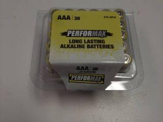 30 Performax AAA Alkaline Batteries long lasting   Exp Sept 2029