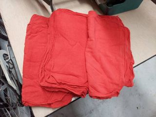 25  Red Shop Rags