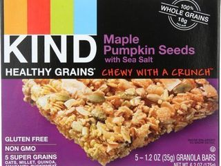 Kind Maple Pumpkin Seeds GRANOlA BARS exp 1 22 2021