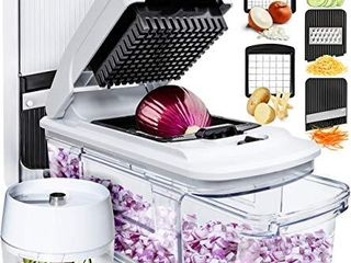 Fullstar Mandoline Slicer Spiralizer Vegetable Slicer   Vegetable Chopper Onion Chopper Food Chopper Vegetable Spiralizer Mandoline Slicer Cutter Chopper and Grater Slicer Zucchini Spaghetti Maker