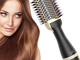 Hot Air Brush  Bvser Hair Dryer Brush One Step Hair Dryer and Styler Volumizer 3 in 1 Air Hair Brush with Negative Ion Curling Dryer Brush Styler  Hair Straightening Brush  Rotating Blow Dryer Brush
