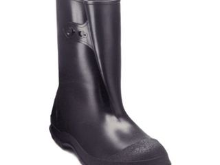 Tingley Rubber 35121 WorkBrutes PVC 10 Inch Overshoe with Button  X large  Black  Made from PVC