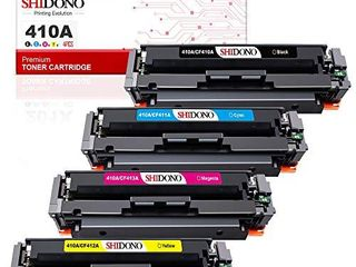 Shidono Compatible Toner Cartridge Replacement for HP 410A 410X Fits with Color laserjet Pro MFP M477fdw M377dw M452dw  M477fdn M477fnw M452dn M452nw Printer 4 Pack  Black Cyan Yellow Magenta