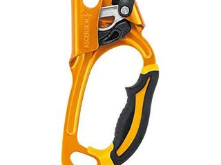 PETZl   Ascension  Ergonomic Handled Ascender  Black Yellow  Right