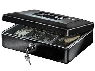 SentrySafe CB 12 Cash Box with Money Tray and Key lock 0 21 cu Feet  Black