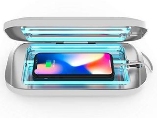 PhoneSoap Pro UV Smartphone Sanitizer   Universal Charger   Patented   Clinically Proven UV light Disinfector    White