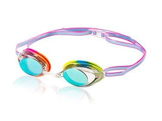 Speedo Unisex Adult Swim Goggles Mirrored Vanquisher 2 0   New Rainbow Brights
