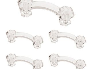 Franklin Brass PN0300 ClR C1  Victorian Drawer Pulls Cabinet Hardware Collection  Cabinet Pulls  3 in  Clear Glass  5 pack