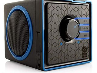 GOgroove SonaVERSE BX Portable Speaker with USB Music Player   Cube Speaker with USB Flash Drive MP3 Input  3 5mm AUX Port  Playback Controls  Rechargeable 5 Hour Battery  Wired  Blue