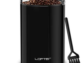lOFTer Coffee Grinder  Electric Portable Spice   Nut Grinder with Stainless Steel Blade  large Grinding Capacity  Portable   Compact  Fast Grinding for Coffee Beans  Seeds  Spices  Herbs  Grains  150W  15 Cups  Black