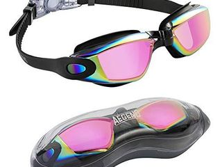 Aegend Swim Goggles  Swimming Goggles No leaking Anti Fog UV Protection Triathlon Swim Goggles with Free Protection Case for Adult Men Women Youth Kids Child  Multiple Choice
