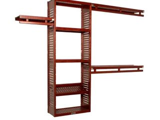 John louis Home 12in Deep Solid Wood Simplicity Organizer Red Mahogany  Retail 318 49