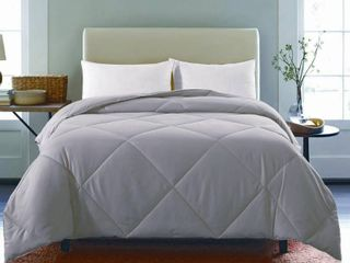 St  James Home Microfiber Nano Comforter  light Grey  Full Queen