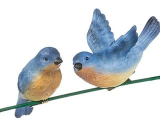 Sullivans Assorted Set of 2 Blue Bird Clip On Ornaments