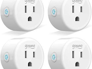 Smart Plug Gosund Smart WiFi Outlet Works with Alexa and Google Home  2 4G WiFi Only  No Hub Required  ETl and FCC listed 4 Pack  Upgraded Version