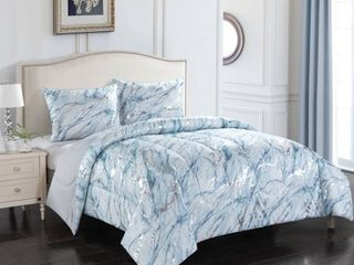 Metallic Marble Comforter Set