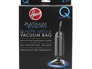 Hoover Platinum Type Q HEPA Filter Vacuum Cleaner Bag  Part 902419001  for Upright UH30010COM  Pack of 2  AH10000  2 Count