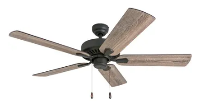 The Gray Barn Harkye Farmhouse 52  Aged Bronze Ceiling Fan in Barnwood Tumbleweed Blades  Retail 85 49