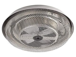 Broan NuTone 157 low Profile Fan Forced Ceiling Heater  Enclosed Sheath Element for Bathroom  Kitchen  and Home  Standard  Satin Aluminum