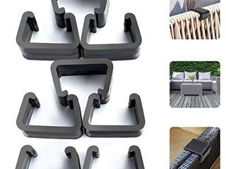 HENMI Patio Furniture Clips  Outdoor Wicker Furniture Rattan Chair Sofa Fasteners Clip Sectional Connector 8 PCS  Small