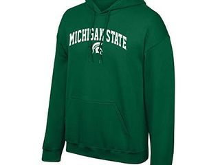 Elite Fan Shop Michigan State Spartans Men s Team Color Arch Hoodie Sweatshirt  large