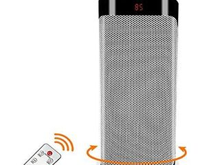 Patio Tower Heaters Outdoor   Oscillating Portable large Electric Heater  Remote Ceramic Fan Heater Adjustable Thermostat 12 Hours Timer Overheat  Tip over Protection  Office  Bedroom  Home  Space Heater