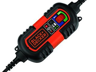 BlACK DECKER BM3B Fully Automatic 6V 12V Battery Charger Maintainer with Cable Clamps and O Ring Terminals