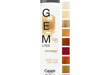 Celeb luxury Gem lites Colorwash  Professional Semi Permanent Hair Color Depositing Shampoo  Cognac Quartz