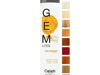 Celeb luxury Gem lites Colorwash  Professional Semi Permanent Hair Color Depositing Shampoo  Tourmaline