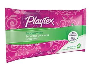 Playtex Personal Cleansing Cloths Refill Pack  Fresh Scent  48 Count Package  Pack of 3