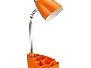 limelights lD1002 ORG Gooseneck Organizer iPad Stand or Book Holder Desk lamp  Orange
