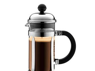 Bodum Chambord French Press Coffee and Tea Maker  12 Ounce  Chrome