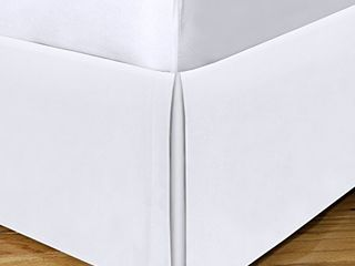 Today s Home Microfiber Classic Tailored Styling Bed Skirt Dust Ruffle  Queen  White