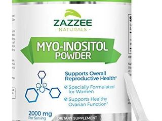 Zazzee Myo Inositol Powder  255 Servings  18 Ounces  510 g  2000 mg per Serving  Includes Free Scoop for Exact Dosage  100  Pure  Vegan and Non GMO
