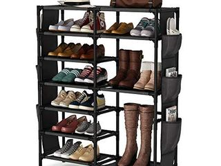 7 Tiers Shoe Rack 24 30 Pairs Shoe Storage Organizer Non woven Shoe Shelf Boots Organizer