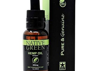 Native Green  Mint 500mg  Hemp Oil for Pain Relief  Anxiety  Better Sleep  Insomnia  Skin Health  Depression   Stress Relief  Organically Grown and Made in The USA