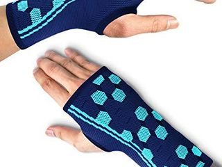 Sparthos Wrist Support Sleeves  Pair  Medical Compression for Carpal Tunnel and Wrist Pain Relief Wrist Brace for Men and Women  Medium  Midnight Black