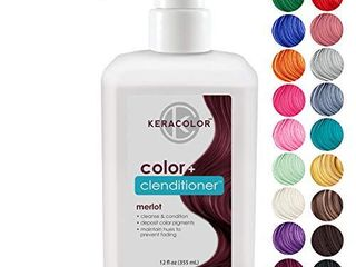 Keracolor Clenditioner MERlOT Hair Dye   Semi Permanent Hair Color Depositing Conditioner  Cruelty free  12 Fl  Oz