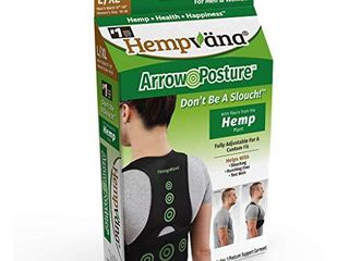 Hempvana Arrow Posture   Fully Adjustable Posture Support   Posture Corrector for Upper Body   Helps Correct Slouching  Text Neck and Hunching Over  l Xl