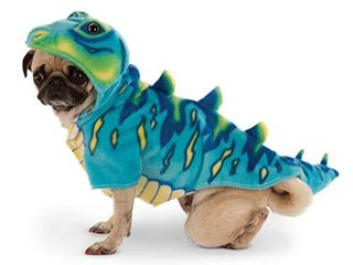 Blue Dino Hoodie for Pet  Medium