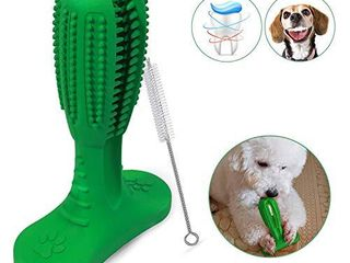 Capularsh Dog Toothbrush Stick Dog Brushing Stick for Medium and large Dogs Pets Dental Care with Small Cleaning Brush