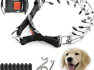 Supet Dog Prong Collar  Dog Choke Pinch Training Collar with Quick Release Snap Buckle for Small Medium large Dogs Packed with One Extra links