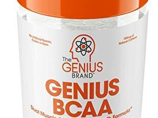 Genius BCAA Powder Nootropic Amino Acids   Muscle Recovery Drink   Natural Vegan Energy BCAAs for Women   Men  Pre  Intra   Post Workout    Natural Brain Boost   Focus Supplement  Grape limeade 287