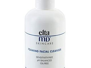 EltaMD Foaming Facial Cleanser  Gentle Face Wash for Acne  Oil free  Sensitivity free  Dermatologist Recommended Enzyme   Amino Acid Face Wash   Makeup Remover  7 oz