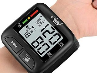 Blood Pressure Monitor Wrist Cuff  Digital BP Machine for Home Use with Portable Thickness 0 83 Inch  Dual Users Mode  30s Readings