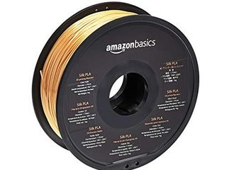 Amazon Basics SIlK PlA 3D Printer Filament  1 75mm  Gold  1 kg Spool  2 2 lbs