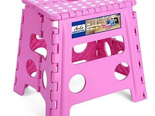 Acko Folding Step Stool   13 inch Height Premium Heavy Duty Foldable Stool for Kids   Adults  Kitchen Garden Bathroom Stepping Stool  Pink