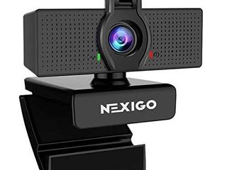 1080P Web Camera  HD Webcam with Microphone   Privacy Cover  2021 NexiGo N60 USB Computer Camera  110 degree Wide Angle  Plug and Play  for Zoom Skype Teams OBS  Conferencing and Video Calling