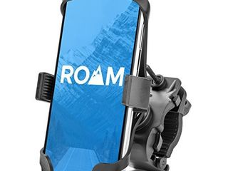 Roam Universal Premium Bike Phone Mount for Motorcycle   Bike Handlebars  Adjustable  Fits iPhone 12  12Pro 11  X  XR  8   8 Plus  7   7 Plus   Galaxy  S10  S9  S8  Holds Phones Up to 3 5  Wide